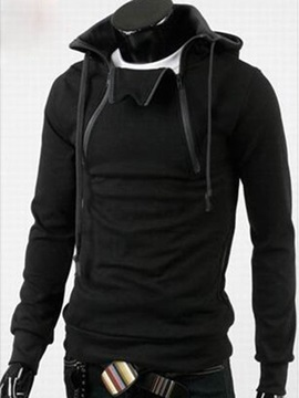 Mens Solid Color Thicken Pullover Hoodies