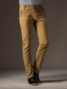 Plain Non Ironing Resilience Slim Fit Mens Casual Pants