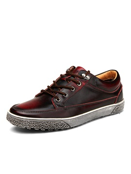 Gradient Color Lace Up Mens Sneakers