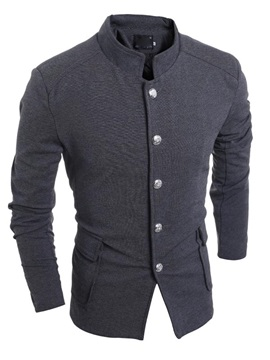 Retro Single Breasted Mens Chinese Tunic Suit