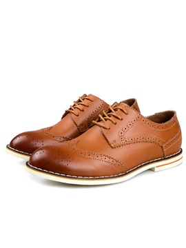 Lace Up Round Toe Mens Brogues