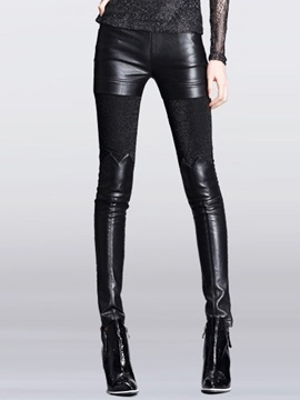 Slim Pu Leggings