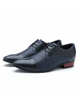 Embossed Square Heel Men S Dress Shoes