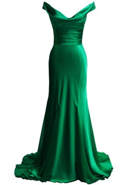 Cheap Cowl Neck Straps Column Long Evening Dress