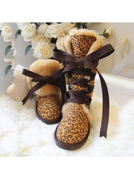 Suede Knee High Lace Up Snow Boots