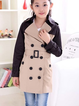 Classy Hit Color High Grade Girl`s Outwear