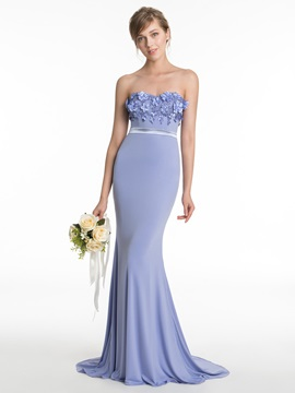 Sweetheart Flowers Mermaid Bridesmaid Dress