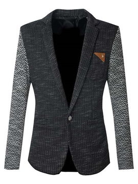 Mens Color Block Slim Fit Gentleman Blazers