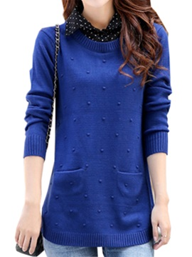 Chic Pocket Decoration Slim Sweater