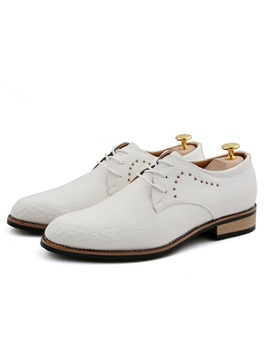 Pu Studded Lace Up Mens Dress Shoes