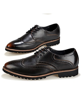 Brush Off Pointed Toe Lace Up Brogue Shoes