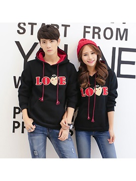 Simple Letter Decorated Couple Hoodies Price For A Pair