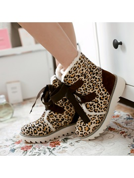 Purfle Round Toe Lace Up Booties