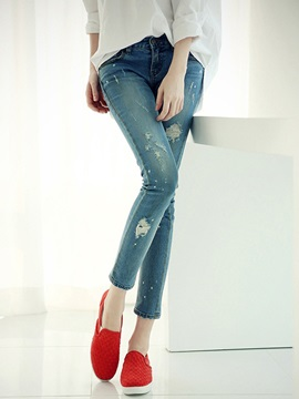 Ninth Length Worn Jean
