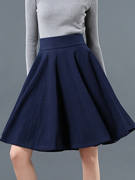 Solid Empire Waist Slim Skirt