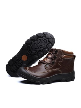 Pu Thread Lace Up Mens Boots