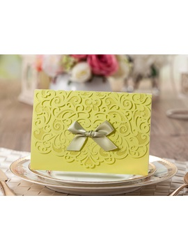 Customized Folding Floral Wedding Invitation Card 20 Pieces One Set