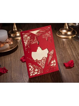 Floral Cut Outs Wedding Invitations 20 Pieces One Set