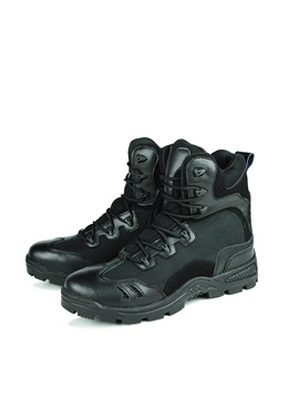 British Pu Lace Up Mens Boots