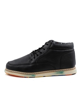 Colored Sole Lace Up Mens Casual Shoes