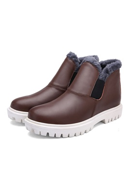 Purfle Wedge Sole Mens Boots