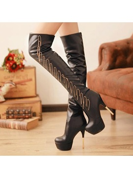 Tassels Platform Stiletto Heel Thigh High Boots