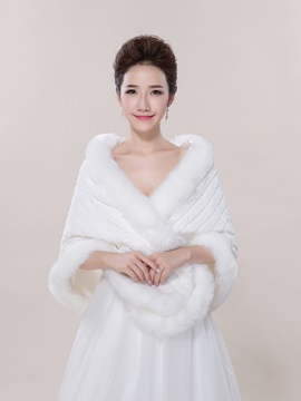 Warm Faux Fur Jacket Wedding