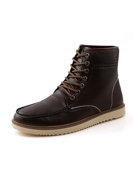 British Pu Thread Lace Up Mens Boots