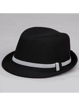 Belt Decorated Mens Fedora Hat