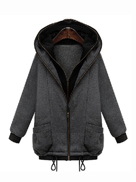 Stylish Double Hooded Straight Overcoat