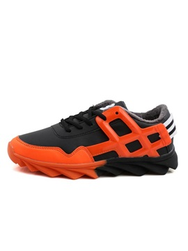 Color Block Lace Up Mens Sneakes