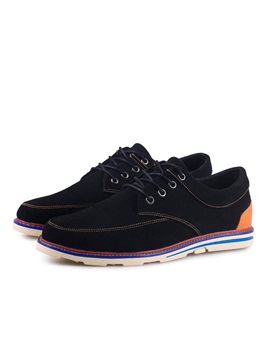 Suede Thread Lace Up Casual Shoes