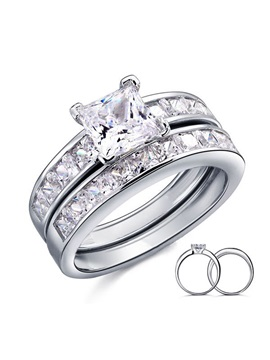 Style 925 Sterling Silver Womens Wedding Ring
