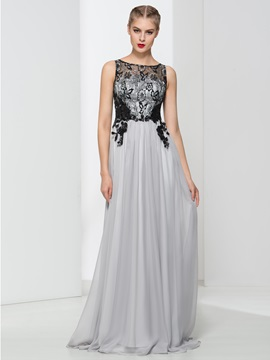 Timeless Straps Appliques Lace Long Evening Dress