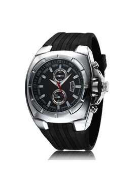 Casual Style Mens Silicone Watch