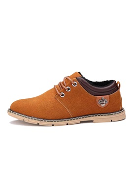 Suede Round Toe Lace Up Commuter Shoes