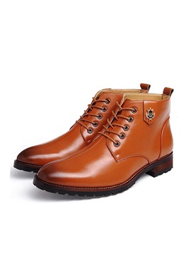 British Square Heel Lace Up Martin Boots