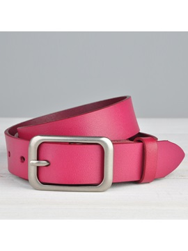 Pure Color Pin Buckle Womens Belt