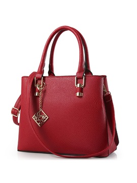 Solid Stitching Zipper Tote