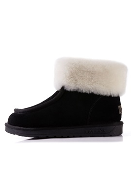 Faux Fur Suede Slip On Winter Boots