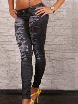 Casual Printing Worn Leggings