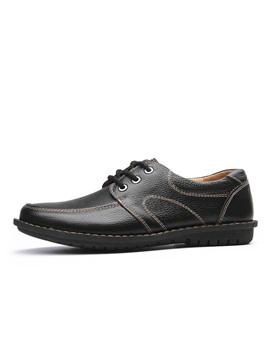 Pu Thread Lace Up Front Mens Casual Shoes