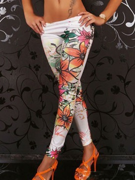 Multicolor Floral Slim Leggings