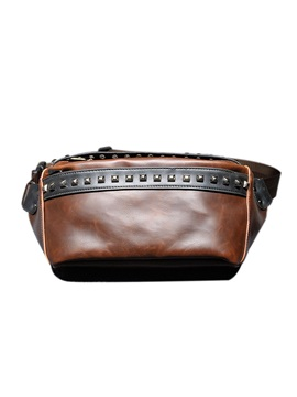 Zipper Casual Rivet Men Bag