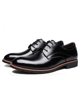 Embossed Pu Lace Up Mens Dress Shoes