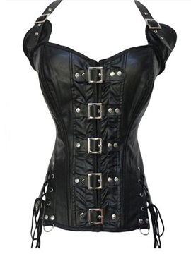 Lace Up Front Buckle Corset