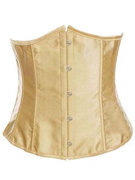 Golden Lace Up Waist Trainer Corset