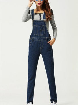 Stylish Denim Pocket Designed Overall