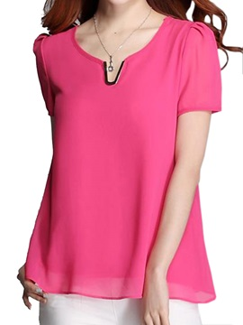 Chic Collar Slim Work Chiffon Blouse
