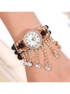 Multi Layer Tassels Decorated Bracelet Watch